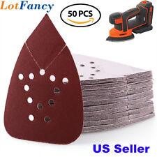 220 Grit Sanding Sheets Sandpaper Mouse Palm Sander Paper 12 Holes Hook and Loop