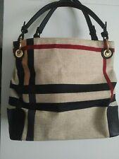 Ladies multi print canvas tote  handbag