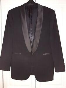 MOSS BROS~ Black Evening Dinner Jacket~ Satin Trim~ Sz 38r~ Perfect