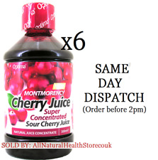6x Optima Sour Montmorency Cherry Juice 500ml Super Concentrate, Natural Flavour