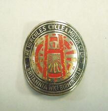 Vintage The Hercules Cycle & Motor Co Britannia Birmingham Bicycle Head Badge