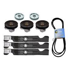 """50"""" Deck Spindle Blade Belt Idler Kit Combo Set Cub Cadet LTX1050KH LTX1050KW"""