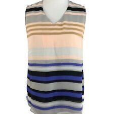CAbi Womens Sheer Striped Underline Blouse Top Style 3273 Size Small