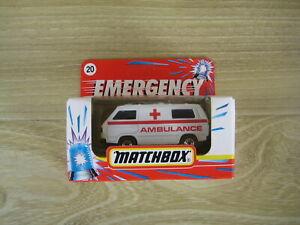 MATCHBOX SUPERFAST  MB20   VW TRANSPORTER AMBULANCE N02   ABSOLUTELY MINT