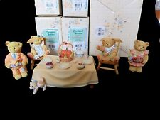 Cherished Teddies 5 PC Family Thanksgiving Collector's Set WE BEAR THANKS