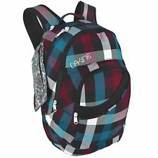 Dakine CRYSTAL 23L Highland Red White Black Plaid Extra Accessory Case Backpack