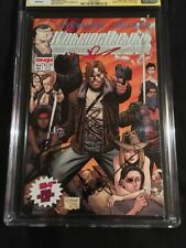 Walking Dead 4x CAST SIGNED Lincoln, Reedus, Gurira, 9.8 CGC SS autograph amc tv
