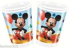 8 Mickey Mouse Playful Plastic Drinking Cups Party Tableware Birthday Kids Boy