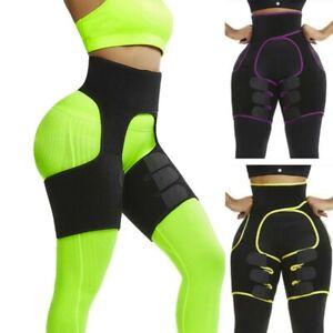 Thigh Trimmer High Waist Trainer Body Shaper Butt Lifter Sweat Belt Exercise US