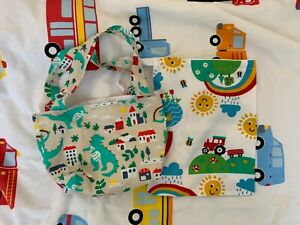 Frugi happy days and dinosaur WAHM bags