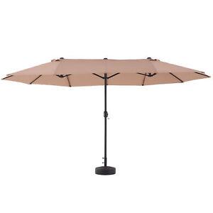 4.6X2.7m Double Side Patio Umbrella Parasol Sun Shelter Canopy Garden Shade