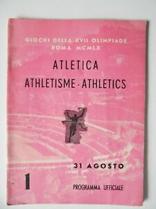 1960 Olympic Games Program Track Field Athletics 31 Aug Peter Snell