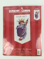 Counted Cross Stitch Kit Red Hat Society 5X9 Royal Ruby Mini Banner 51448