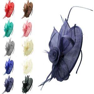 CLEARANCE Sinamay Wedding Race Occasion Headband Clip Flower Hat Fascinator