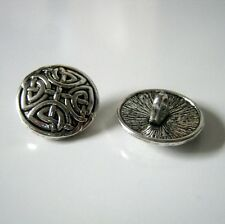 6 Knot Antique Silver Metal Shank Buttons, 17mm, Buttons, Sewing, Crafts  1282