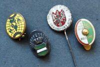 4 alte Abzeichen Fußball - Nadeln -  Pins