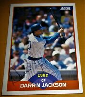 Darrin Jackson autographed baseball card (Chicago Cubs) 1989 Score #360
