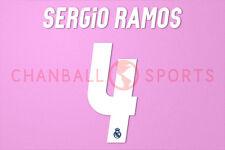 Sergio Ramos #4 2016-2017 Real Madrid Awaykit Nameset Printing