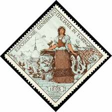 Italy Poster Stamp - 1898 General Exposition Torino (Turin)   Type 1