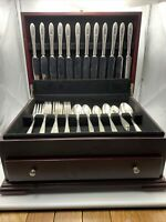 56 Pcs Silver Plate Community GROSVENOR No Monogram 1921 Wallace Chest Flatware