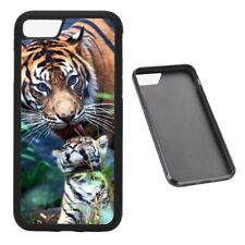 Tiger and Cub RUBBER phone case fits iPhone