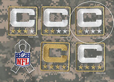 NFL TRIBUTE TO THE MILITARY CAMOUFLAGE CAPTAINS PATCH ONE-STAR 1-STAR C-PATCH