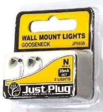 Woodland Scenics (N-Scale) 5658 Just Plug Wall Mount Gooseneck Light (2)