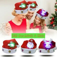Santa Hat PREMIUM COIL Holiday Cap with Mistletoe for Christmas Party BRAND NEW!