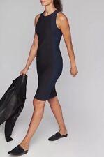 NWT! Athleta Sleeveless Stellar En Route Dress Black & Navy Travel Wick Med M