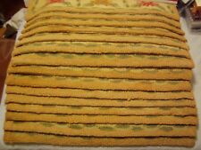 """15 Traditional Carpet Stair Treads 27"""" x 9"""" Staircase Rugs Beige Wool"""