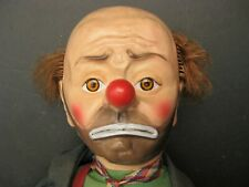 Vintage 1950s Emmett Kelly Weary Willie the Clown Hobo Doll 21 in Baby Barry Toy