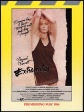 EXTREMITIES__Original 1985 early Trade AD studio promo / poster__FARRAH FAWCETT