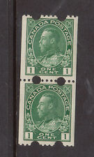 Canada #131iv Very Fine Never Hinged Coil Pair