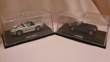 MAXI CAR MODELS X2,1ST IS METALLIC BLUE TOYOTA MR2,2ND IS A SILVER SHELBY,MIB.