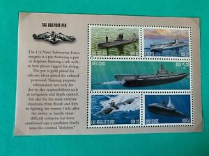 US Stamps SC# 3377a Navy Submarine Booklet pane of 5 Selvage-1 MNH 2000