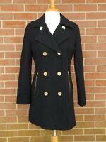 Michael Kors Wool Blend Coat Women's Black Size 4