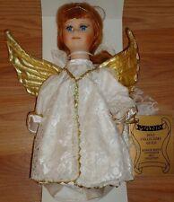 "Angel doll Porcelain Christmas Tree Topper 10""H Seymour Mann New in Box"