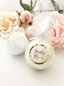 25 PERSONALIZED Bath Bombs Bridal Shower Wedding Favors
