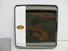 FOSSIL Genuine Leather Wallet - Camouflage Colors - Bifold Style - NEW in BOX