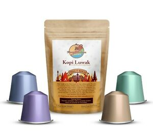 Kopi Luwak Coffee Nespresso Compatible Pods / Capsules - Christmas Gift/Present