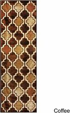 NEW! Superior Modern Viking Textured Jute Backing Trellis 3'x8' Runner Rug $99