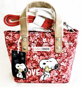 Cath Kidston Snoopy Love Bag Peanuts Red Pink Crossbody Handbag Brampton Leather