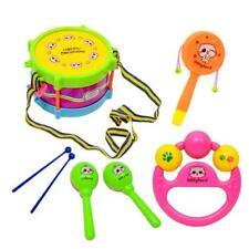 5x Baby-Mädchen-Drum Set Musikinstrumente Kinder Schlagzeug Kinderspielzeug NEU.