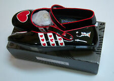 Funtasma by Pleaser Hearts-16 Womens Shoes Fashion Flat Costume Shoe 6 BLK Pat