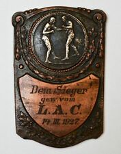 Platte L.A.C. Leichtathletik Club 1927 Kupfer versilbert Wettkampf Sport