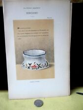 Vintage Print,FAIENCE,1872,Saliere Ovoide,Sinceny,Pg56