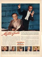 """1945 Columbia Records Print Ad Featuring: Morton Gould Conducts """"After Dark"""""""