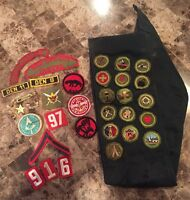 RARE 1930-40's BSA Boy Scouts Merit Patches Sash, Pins Badges - New York City