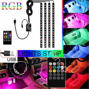 USB RGB Music Control Car Truck LED Interior happy Light for Chevrolet Ford GMC