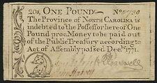 North Carolina Colonial Currency One Pound - Rare - Dec 1771 No. 0730 Bt2757
